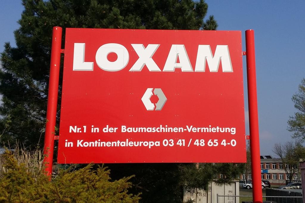 Loxam Werbeschild - Vermietung